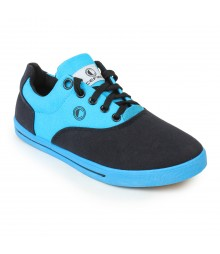 Cefiro Men Casual Shoes Fun04A Black Lake Blue CCS0020